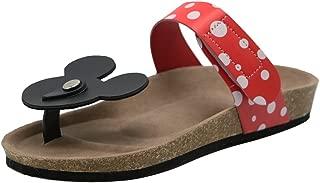 Women Mickey Mouse Dote Flip Flops Comfort Flat Sandals