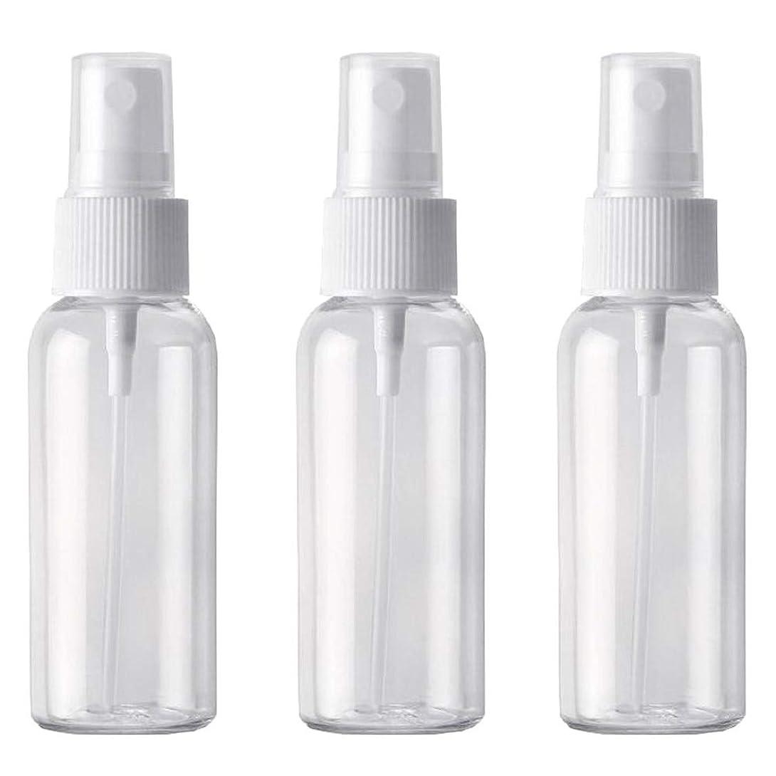 力学矩形抑制PET小分けボトル トラベルボトル スプレーボトル 3本セット 霧吹き 小分け容器 化粧水 (50ml )