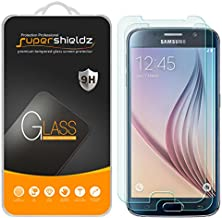 (2 Pack) Supershieldz Designed for Samsung Galaxy S6 Tempered Glass Screen Protector, Anti Scratch, Bubble Free