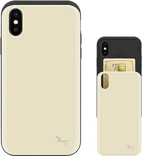 iPhone Xs ケース iPhone X ケース TPU バンパー Bumper 耐衝撃 カード入れ マット加工 ワイヤレス充電対応 スマホケース 擦り傷防止 保護フィルム Breeze 3DP 正規品 [IXJP217BN]
