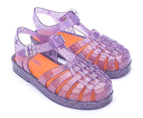 Sandália Mini Melissa Possession Infantil Glitter Lilás Tamanho do calçado:32
