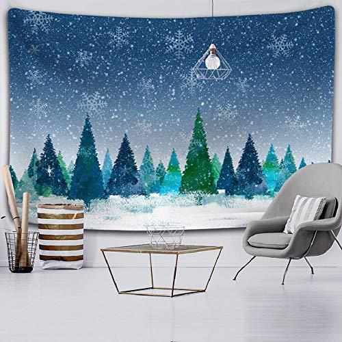 Árbol de Navidad tapiz de sala de estar Mandala tapiz de pared fondo tela decoración sofá manta 150X200CM