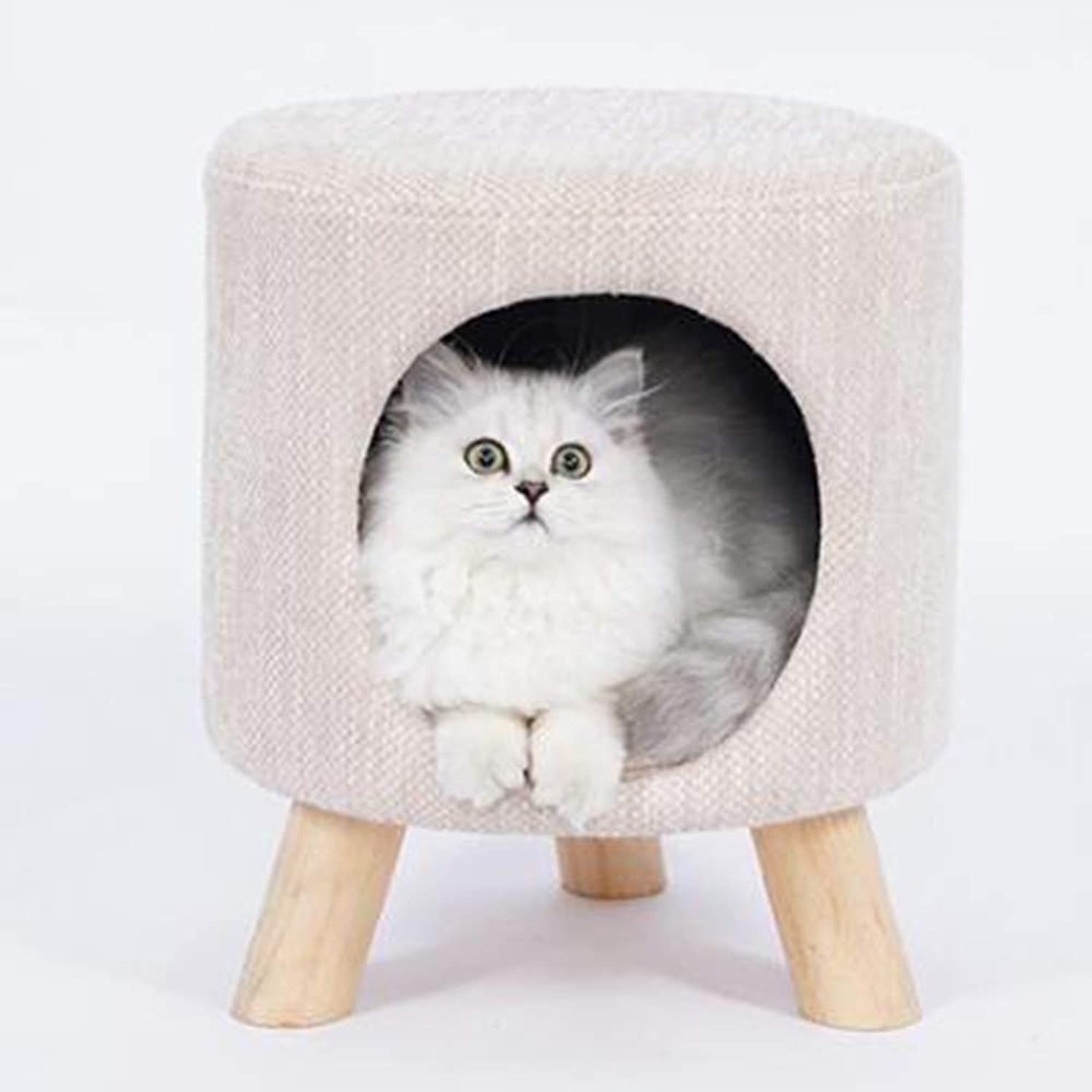 Cat Furniture,Creative Stool Cat Nest,Cat House, SemiClosed Teddy Dog Kennel,