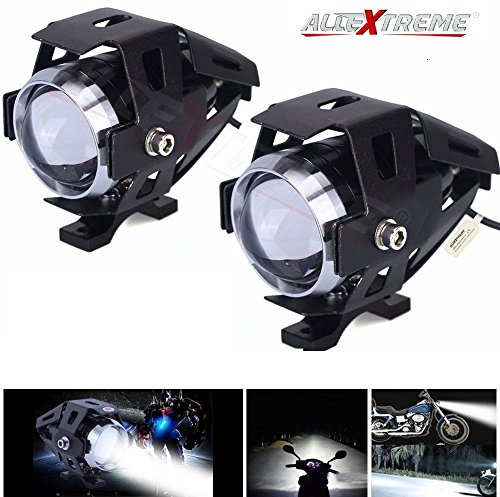 AllExtreme EXU5FW2 U5 CREE LED Driving Fog Light Fog in Aluminum Body with Mounting Brackets for All Motorcycles, ATV and Bikes and Cars (10W, White Light, 2 PCS)
