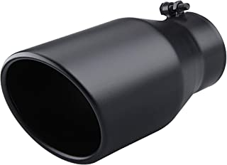 Diesel Exhaust Tip 4 '' Inlet 6'' Outlet,12'' Overall Length, Bolt On,Stainless Steel Exhaust Tailpipe