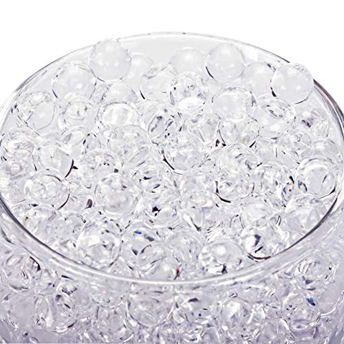 30000 Clear Water Gel Jelly Beads Vase Fillers for Floating Pearls, Floating Candle Making, Wedding Centerpiece, Floral Arrangement