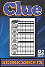 Clue Score Sheets: Clue Score Cards and Pads , Clue Board Game Sheets, Clue Score Card and Notepad, clue score sheet pad |...