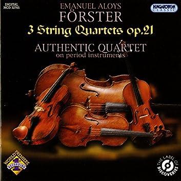 Förster: 3 String Quartets, Op. 21