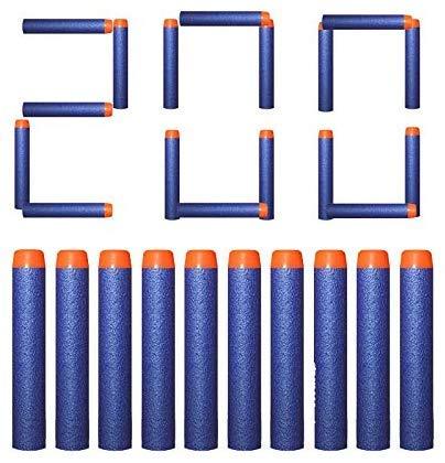 DEWEL 200Pcs Dardi Proiettili Morbide Freccette Schiuma Proiettile per di Nerf e Pistole Giocattolo