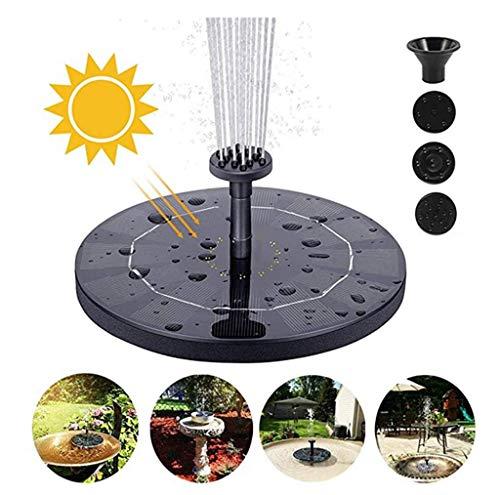 Writtian Solar Springbrunnen Mini, 1W Solar Teichpumpe Garten Wasserpumpe mit Solar Panel Solar schwimmender Fontäne Pumpe für Gartenteich Fisch-Behälter Sprinkler teich solar springbrunnen