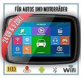 Elebest Rider A5 Navigationsgerät Motorrad - inkl. Halterung und Ladekabel, 5 Zoll Display...