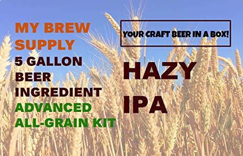 Hazy IPA Advance Homebrew All Grain 5 Gallon Beer Ingredient Recipe Kit by My Brew Supply