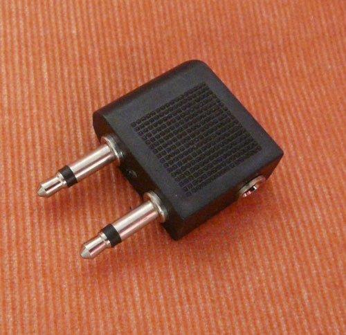 Flugzeugadapter für Kopfhörer Audio Adapter für Flugzeug Mir 2x3,5mm Stecker (Flug)