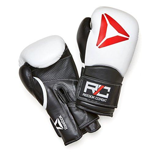 Combat Leather Training Glove - 16oz White/Black