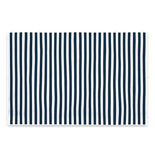 Nexos 2 Seitenteile Seitenwände Seitenplanen ohne Fenster für PE-Pavillon Partyzelt 3 m marineblau weiß
