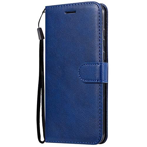 Jeewi Hülle für LG W30 Hülle Handyhülle [Standfunktion] [Kartenfach] [Magnetverschluss] Tasche Etui Schutzhülle lederhülle klapphülle für LG W30 - JEKT051175 Blau