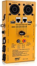 12-Plug Pro Audio Cable Tester - 12-in-1 Line Finder, Continuity Checker, Wire Tracker w/ Internal Battery, LED Light Indicator - Supports 12 Types of Cables, USB, RJ45, XLR, and More - Pyle PCT40
