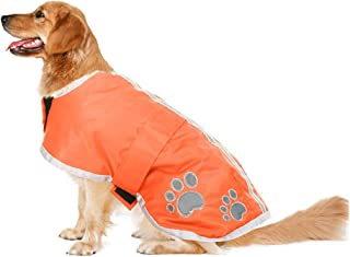Haolgo Dog Jackets Waterproof Coats for Dogs, Windproof Dog Coat for Cold Weather, Orange, L