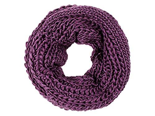 VIPER Tube en boucle Foulard LOOP écharpe autour du cou tricoté hiver, écharpe choisir:SCH-271h lilas