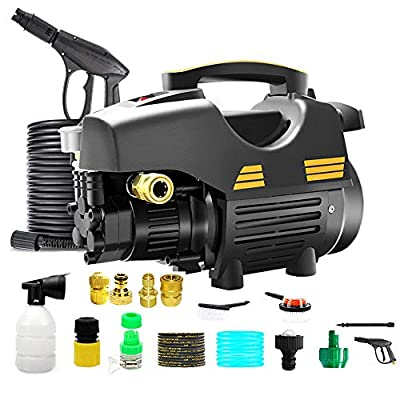 HYM 2200W 5-11MP? 250-380 L/h Pressure Washer Jet Wash Power Washer With Adjustable Spray Nozzle & Detergent Container,J by HYM