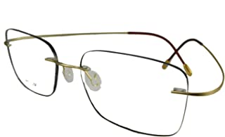 Circleperson Rimless Titanium Eyeglass Frames RX-able Men...