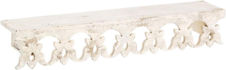 Retro Wooden Shelf Cabinet White Patina