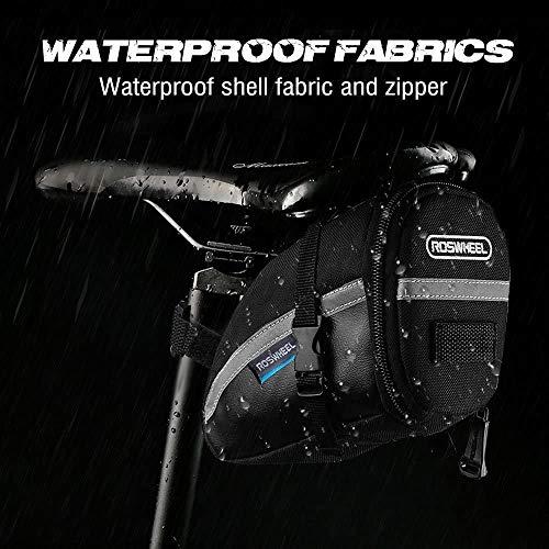 iKALULA Fahrrad Satteltasche, Kompakte Wasserdichte Rahmentasche Fahrradtasche Oberrohrtasche Aero Wedge Pack Mountainbike Bag für Mountainbikes, Fahrräder, und Rennräder – Schwarz - 6