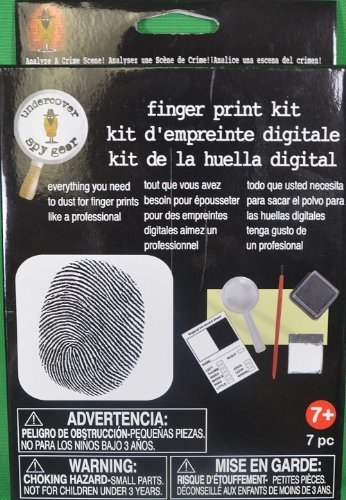 Kids Detective Finger Print Kit Crime Mystery Solving 7 Piece Set