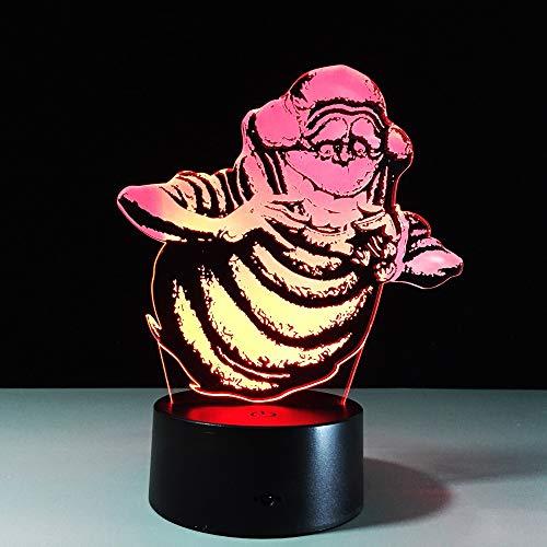 Nndxh Usb Led 3D Lámpara De Mesa De Acrílico De Luz Nocturna Lámpara De Mesa Con Pilas 3D, Regalo Novedoso
