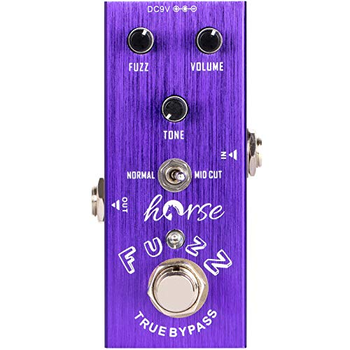 Horse Fuzz Electric Guitar Effects Pedal Mini Single Type DC 9V True Bypass