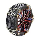 kangOnline Cadenas antideslizantes de nieve para neumáticos de ruedas para coche, camión, SUV, invierno, universal, para exteriores