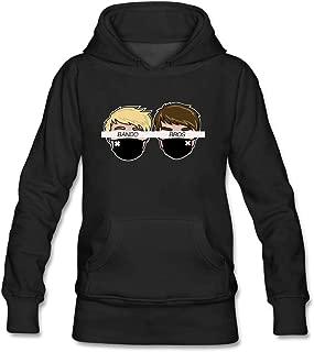 Lookingblue Cartoon Bando Bros Brock Head White Line Pullover Hoodies Sweatshirt for Women