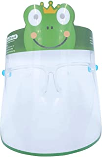 Kids Face Shield with Glass Frame support, Kids face Shield with Animal designs from THEJMED.COM (Frog)