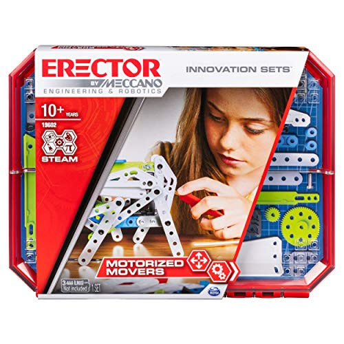 Meccano Erector, Motorized Movers S.T.E.A.M. Building Kit with Animatronics, for Ages 10 and Up
