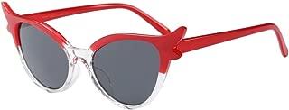JJLIKER Women Vintage Cat Eye Polarized Sunglasses Driving Flat Lens Plastic Frame Goggles Fashion One Piece Eyeglass