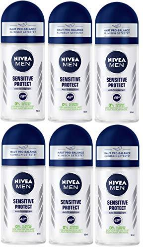 Nivea Men Sensitive Protect Anti transpirant Roll On, 6pack (6x 50ml)