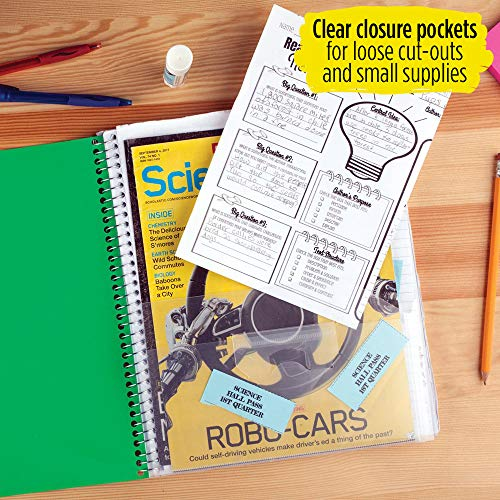 """Five Star Interactive Notetaking, 1 Subject, College Ruled Spiral Notebooks, 100 Sheets, 11"""" x 8-1/2"""", 3 Pack (38581) Photo #4"""