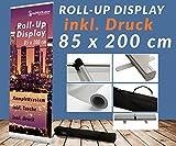 Roll UP Display +Druck +Tasche Werbedisplay Werbeständer Firmendruck Werbung Ständer Aufsteller Werbebanner 12A02, Roll up Größe:85cmx200cm