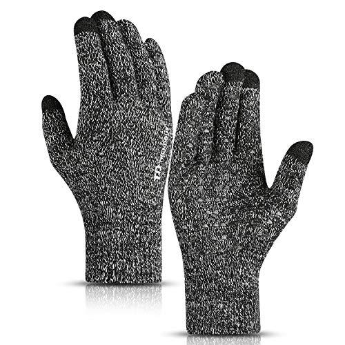TRENDOUX Winter Gloves, Knit Tou...