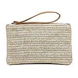 Coseyil Stroh Weaving Clutch Bag Casual gewebt Brieftasche Handtasche Sommer Strandtasche Handy...