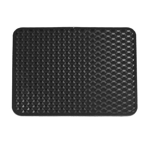 uxcell® Auto Car Textured Mobile Phone Holding Nonslip Rubber Pad Mat Black