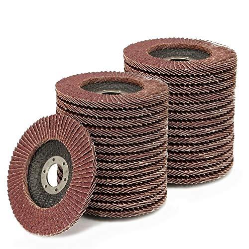 50 Stück Fächerscheiben 115 mm 4,5 Zoll 40/60/80/120/150 Körnung 10 Stk. Jede Schleifscheibe Klappenschleifscheibe zum Holzpolieren