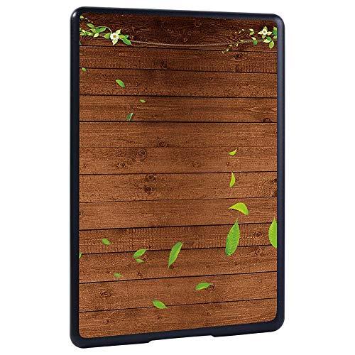 Caso Para Kindle,Cubierta De La Funda Del Casco Duro A Prueba De Golpes Para El Kindle De Amazon 10O / 8O Paperwhite 1/2/3/4 Lightweight Wood Grain Tablet Cover Shell, Hoja Verde, Paperwhite 2 6Th Ge