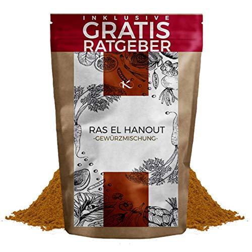 Ras el Hanout Gewürzmischung 250g fein gemahlen inkl gratis Ratgeber I orientalisches Gewürz Pulver mild pikant marokkanische Spezialität für Couscous