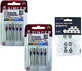 Confezione da 10 aghi per macchine da cucire universali Singer 2020 taglie 70-80-90-100 pe...