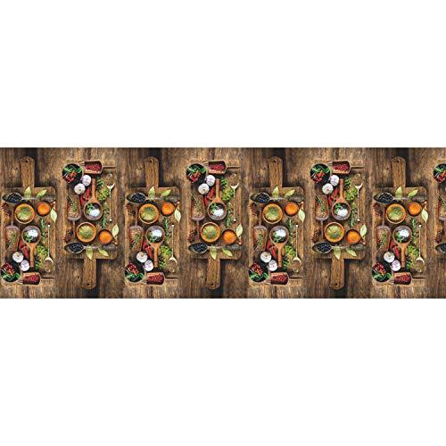 WohnDirect Tappeto da Cucina per Interni Fino a 10 m di Lunghezza • 100% Poliestere • Tappeto Cucina Antiscivolo • Facile da Lavare • 50 x 70 cm