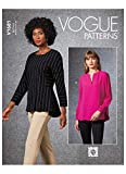 Vogue Pattern V1681E5 Damen-Top E5 (44-46-48), Papier, verschieden, (14-16-18-20-22)
