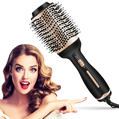 Hair Dryer Brush Hot Air Brush,Hair Dryer and Volumizer Blow Brush in One, Multifunctional 4 in 1 Hair Comb Styler Professional Hair Brush Blow Dryer with Negative Ionic and Ceramic Coating