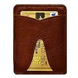 [ストラス] 【薄い財布】 レザースマートマネークリップ ジャパンリミテッド 【LeatherSmartMoneyClip】 (ブラウン×ゴールド)
