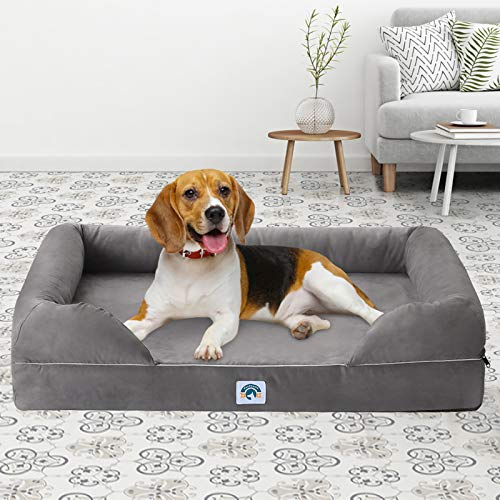 EASELAND Memory Foam Dog Bed for Small Medium Large Dogs Cats,Orthopedic...